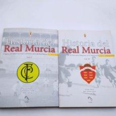 Collectionnisme sportif: HISTORIA DEL REAL MURCIA VOLÚMENES 1 Y 2. Lote 266728778
