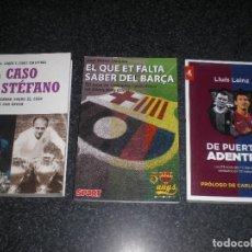 Coleccionismo deportivo: LOTE 3 LIBROS FC BARCELONA (VER TÍTULOS Y DESCRIPCIÓN). Lote 267629249