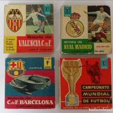 Coleccionismo deportivo: REAL MADRID, BARCELONA , VALENCIA Y MUNDIALES , LIBRO DE BOLSILLO. Lote 270587663