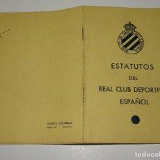 Coleccionismo deportivo: RCD ESPAÑOL - ESTATUTOS DEL RCD ESPAÑOL 1949 - 23 PAG, 10,5X16CM, BUEN ESTADO. Lote 270915163