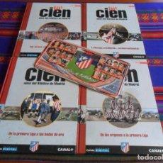 Coleccionismo deportivo: CIEN AÑOS DEL ATLÉTICO DE MADRID TOMO 1 2 3 4 COMPLETA AS 2003. REGALO CHAPA MAGNETS 99 00.. Lote 274184943