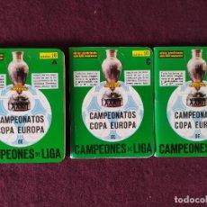 Collectionnisme sportif: CAMPEONATOS COPA EUROPA DE CAMPEONES DE LIGA, DINÁMICO, ATD, 1981, A, B Y C. Lote 275528103