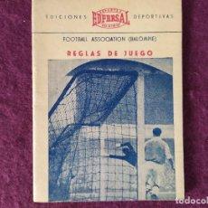 Collectionnisme sportif: 1955, REGLAS DE JUEGO BALOMPIÉ, EDFERSAL, EDICIONES DEPORTIVAS, P. ESCARTÍN, ILUSTRADO. Lote 275544173