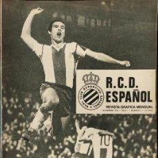 Coleccionismo deportivo: 20 REVISTAS - RCD ESPAÑOL - REVISTA GRAFICA MENSUAL -. Lote 275658563
