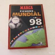 Coleccionismo deportivo: MARCA FICHERO MUNDIAL FRANCIA 98- HISTORIA DEL MUNDIAL. Lote 278489593