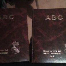 Coleccionismo deportivo: HISTORIA VIVA DEL REAL MADRID 1902-1987. COLECCIÓN COMPLETA DE 63 FASCÍCULOS EN DOS VOLÚMENES. Lote 278629118