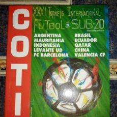 Coleccionismo deportivo: LIBRO COTIF 2014. Lote 278841283