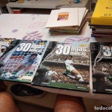 Coleccionismo deportivo: G-88 LIBRO 30 LIGAS BLANCAS: 4 TOMOS, COMPLETA - DIARIO AS. Lote 280115768