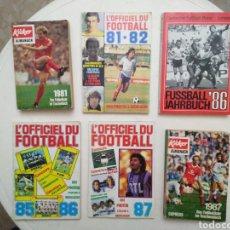 Coleccionismo deportivo: LOTE DE 6 LIBROS DE FUTBOL ALEMANIA Y FRANCIA ( DECADA DE LOS 80 ). Lote 283204273