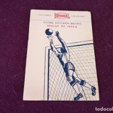 Collectionnisme sportif: 1954, REGLAS DE JUEGO BALONPIÉ, EDFERSAL, EDICIONES DEPORTIVAS, P. ESCARTÍN, ILUSTRADO. Lote 287252503
