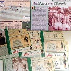 Coleccionismo deportivo: GRAN LOTE FICHAS REAL BESTIS TEMPORADA 99 2000 FÚTBOL DEPORTE FOTOS AÑORANZAS HISTORIA - NO ES LIBRO. Lote 289726028