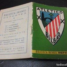 Coleccionismo deportivo: ATHLETIC BILBAO ATLETICO FUTBOL Nº 1 BIBLIOTECA INFANTIL DEPORTES MINIATURA - EDICIONES ALONSO. Lote 291414773