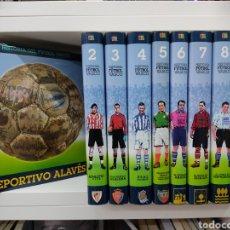Coleccionismo deportivo: HISTORIA DEL FUTBOL VASCO EDITA ARALAR 2001 9 TOMOS (COMPLETA) ATHLETIC CLUB BILBAO REAL SOCIEDAD.. Lote 291483783