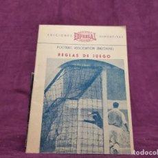 Coleccionismo deportivo: REGLAS DE JUEGO DE BALONPIÉ, EDFERSAL, 1955. Lote 293166908