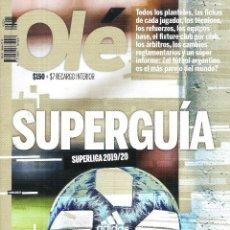 Coleccionismo deportivo: ESPECIAL OLÉ (ARGENTINA) SUPERGUÍA SUPERLIGA 2019/20. Lote 294434383