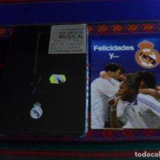 Coleccionismo deportivo: PRECINTADO REAL MADRID REALVOLUTION CON LIBRO DVD POSTAL PEGATINAS CHAPAS. REGALO POSTAL FELICIDADES. Lote 296590188