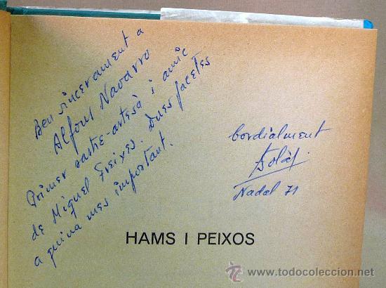 Libros: LIBRO, HAMS I PEIXOS, FERRAN SOLA, PULIDE, 1971 - Foto 2 - 27678197