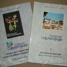 Libros: CONGRESSO CULTURA POPULAR - MAIA -PORTUGAL. Lote 31378726