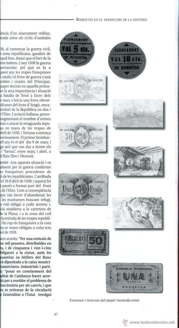 Libros: TORTOSA-ROQUETES (BAIX EBRE) APUNTS HISTÒRICS RAMON BARBERÀ I MANUEL ROÉ ANY 2003 - Foto 2 - 41805434