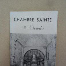 Libros: CHAMBRE SAINTE DE OVIEDO - AÑO 1963. Lote 43011200