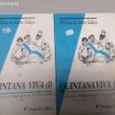 Libros: QUINTANA VIVA XOSE FILGUEIRA VALVERDE, BIBLIOTECA DE AUTORES GALEGOS 2 VOLUMENES. Lote 102453139