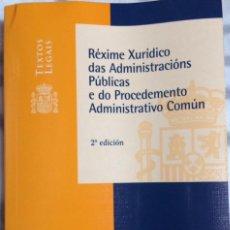 Libros: REXIME XURIDICO ADMCIÓNS. PÚBLICAS E DO PROC.ADMTIVO.COMUN. VERSIÓN EN GALLEGO. BOE 2008. Lote 113435823