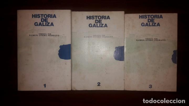 HISTORIA DE GALICIA. OTERO PEDRAYO. ED. AKAL.TRES TOMOS, LOS DOS PRIMEROS DE 1979 Y EL TERCERO DE 19 (Libros Nuevos - Otras lenguas locales - Gallego)