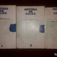 Libros: HISTORIA DE GALICIA. OTERO PEDRAYO. ED. AKAL.TRES TOMOS, LOS DOS PRIMEROS DE 1979 Y EL TERCERO DE 19. Lote 132247094