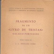 Libros: FRAGMENTO DE UN LIVRO DE TRISTAN (S. XIV. EDICIÒN PALEOGRÁFICA Y ESTUDIO. Lote 172113819