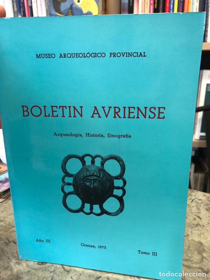 BOLETÍN AVRIENSE. AÑO III, TOMO III (Libros Nuevos - Otras lenguas locales - Gallego)