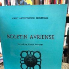 Libros: BOLETÍN AVRIENSE. AÑO III, TOMO III. Lote 207806811