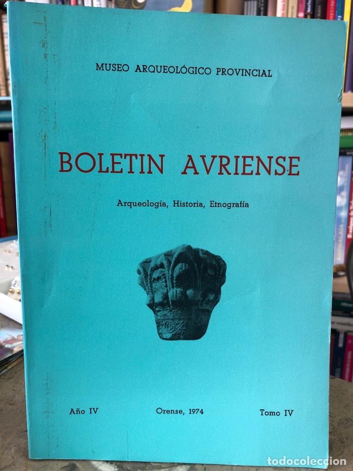 BOLETÍN AVRIENSE. AÑO IV. TOMO IV (Libros Nuevos - Otras lenguas locales - Gallego)
