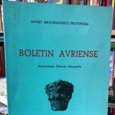 Libros: BOLETÍN AVRIENSE. AÑO IV. TOMO IV. Lote 207807290