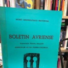 Libros: BOLETÍN AVRIENSE. AÑO V. TOMO V. Lote 207807873