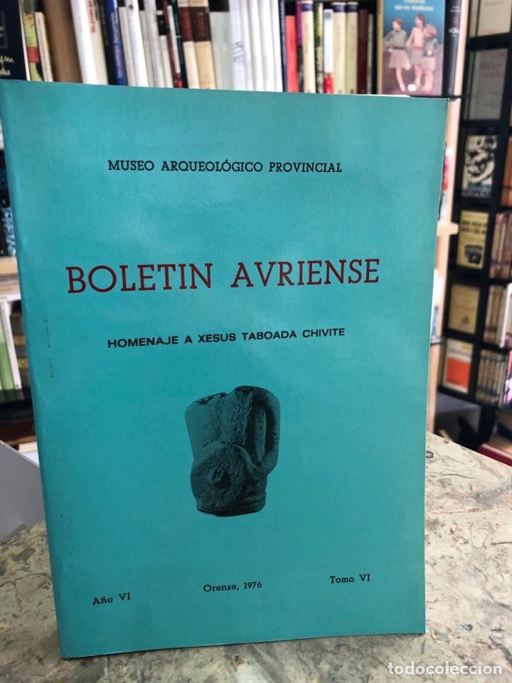 BOLETÍN AVRIENSE. AÑO VI. TOMO VI (Libros Nuevos - Otras lenguas locales - Gallego)