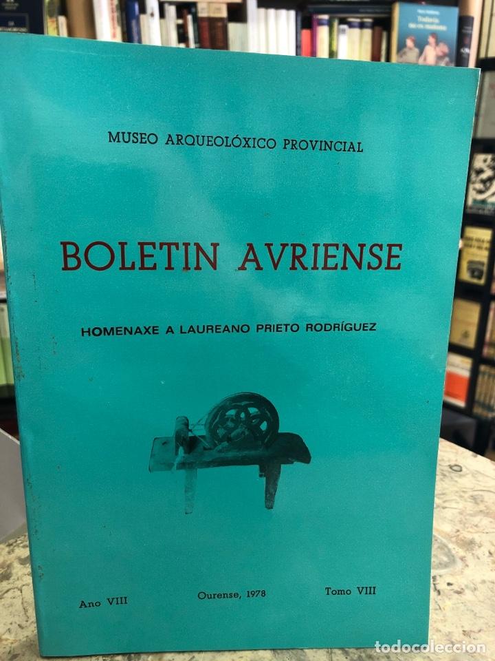 BOLETÍN AVRIENSE. AÑO VIII. TOMO VIII (Libros Nuevos - Otras lenguas locales - Gallego)