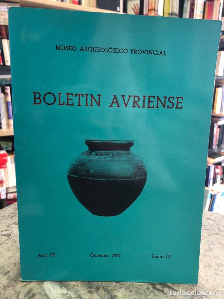 BOLETÍN AVRIENSE. AÑO IX. TOMO IX (Libros Nuevos - Otras lenguas locales - Gallego)