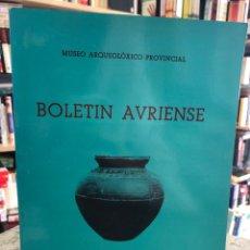Libros: BOLETÍN AVRIENSE. AÑO IX. TOMO IX. Lote 207808761