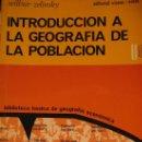 Libros: BILBUR ZELINSKY. INTRODUCCION A LA GEOGRAFIA DE LA POBLACIÓN. ED. VICENS VIVES. Lote 27112503