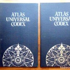 Libros: ATLAS UNIVERSAL CODEX - 2 VOLUMENES- EL MAS DETALLADO. Lote 100064571