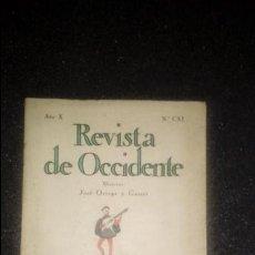 Libros: REVISTA DE OCCIDENTE Nº 111. PREGUERRA ESPAÑOLA.. Lote 132537130