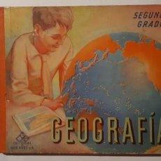 Libros: MAGNÍFICO LIBRO ANTIGUO DE GEOGRAFÍA, CASI 90 PÁGINAS A TODO COLOR. Lote 147242374