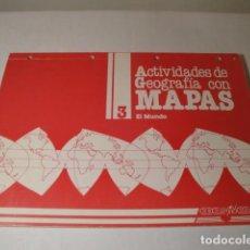 Libros: ACTIVIDADES DE GEOGRAFÍA CON MAPAS. 3 EL MUNDO. EDELVIVES, AÑO 1987. AUTOR: MERINO SÁENZ. NUEVO. Lote 150646170