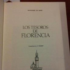 Libros: BJS.RAYMONDE DE GANS.LOS TESOROS DE FLORENCIA.EDT, FERNI.BRUMART TU LIBRERIA.. Lote 151932738