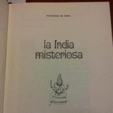 Libros: BJS.RAYMONDE DE GANS.LA INDIA MISTERIOSA.EDT, FERNI.BRUMART TU LIBRERIA.. Lote 151933650