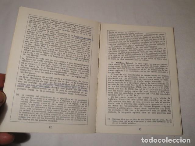 Libros: ¿ Quiénes son los propietarios de la Tierra ?.Autores: Manuela Leal y Salvador Martín. Año 1977. - Foto 4 - 157295566