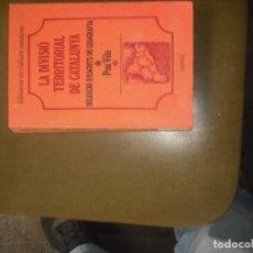 Libros - La divisió territorial de Catalunya - 160809398