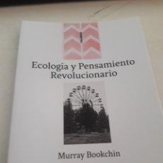 Libros: ECOLOGÍA Y PENSAMIENTO REVOLUCIONARIO - BOOKCHIN. Lote 175834400