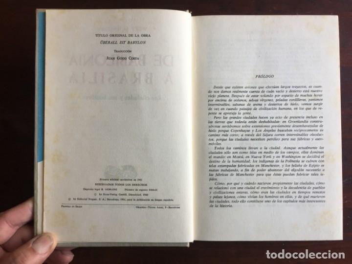 Libros: De Babilonia a Brasilea De Zischka. 1961. Con 7 capítulos origen de las ciudades desde la antiguedad - Foto 3 - 181511278
