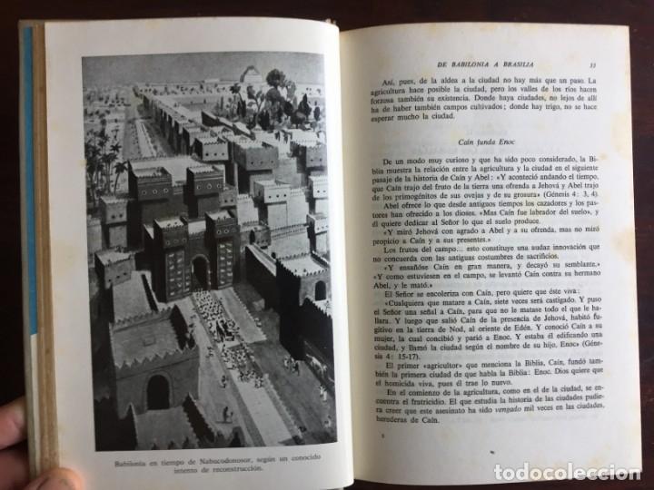 Libros: De Babilonia a Brasilea De Zischka. 1961. Con 7 capítulos origen de las ciudades desde la antiguedad - Foto 5 - 181511278
